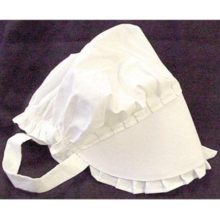 (100% White Cotton Prairie Amish Bonnet Small by Americana)