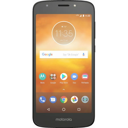 Virgin Mobile Motorola Moto E5 Play Prepaid Smartphone, Black