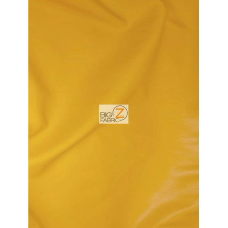 - Solid Soft Faux Fake Leather Vinyl Fabric / Gold / Sold By The Yard