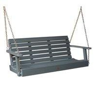 highwood® Eco-Friendly Recycled Plastic Weatherly Porch Swing, 5'