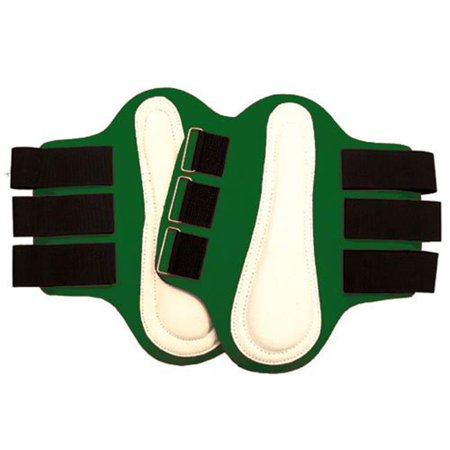 Splint Boots with White Leather Patches, Green - Medium - Intrepid 114256