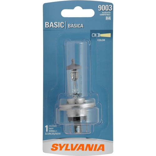 Sylvania 9003 Basic Headlight, Contains 1 Bulb