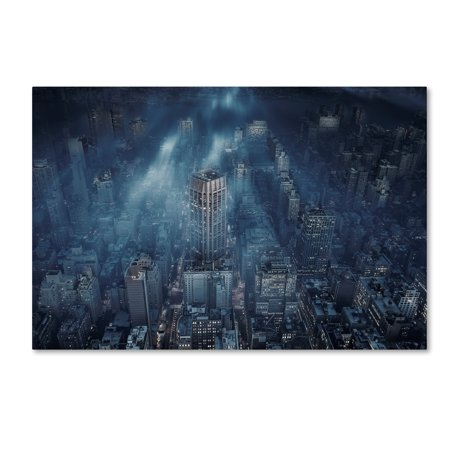 (Trademark Fine Art 'Nyc' Canvas Art by Leif Londal)