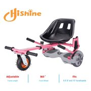 """Pink Upgrade Hoverboard Go Kart Seat Attachment, Hover Go Kart, Conversion Kit, Hoverboard Go Cart Accessories, Heavy Duty Frame, Fun for Kids Fits 6.5""""/8""""/10"""""""