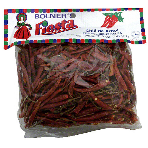 Bolner's Fiesta Brand Chili De Arbol, 5 oz (Pack of 12)