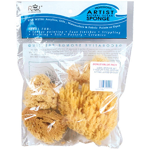Royal Brush Natural Ocean Artist Sponges, 4-Pack
