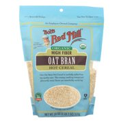 Bob's Red Mill - Oat Bran - Organic High Fiber Hot Cereal - Case of 4 - 18 oz.