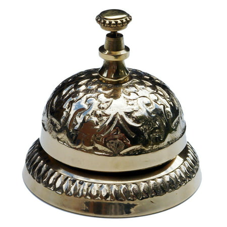 Antique Style Solid Brass Hotel Counter Desk Bell Ring For Service Call  Bells - Antique Style Solid Brass Hotel Counter Desk Bell Ring For Service