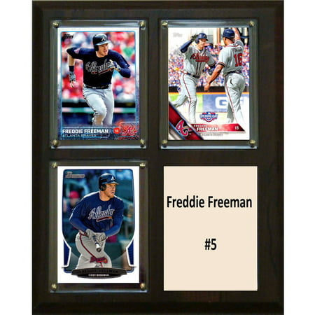 - C&I Collectables MLB 8x10 Freddie Freeman Atlanta Braves 3-Card Plaque
