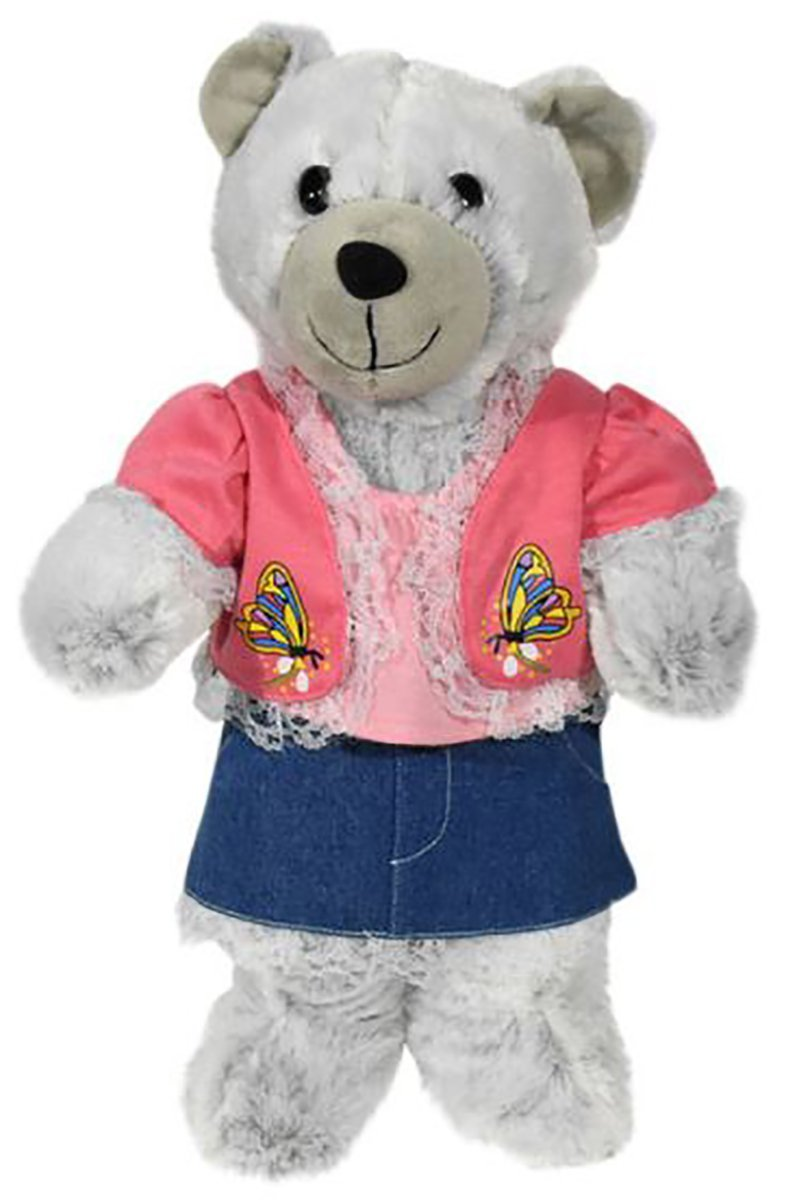 "Pink Spring Lace Outfit Fits Most 14""-18"" Build-A-Bear, Vermont Teddy Bear, and... by Animaland"