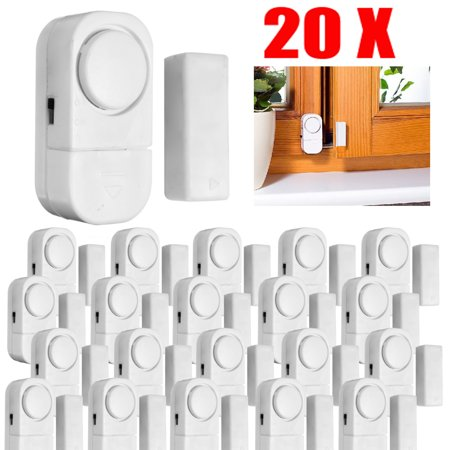 Window Alarm, 20-Pack Mini Window Door Entry Alarm Burglar Security Alarm System Magnetic Sensor Protector for Home