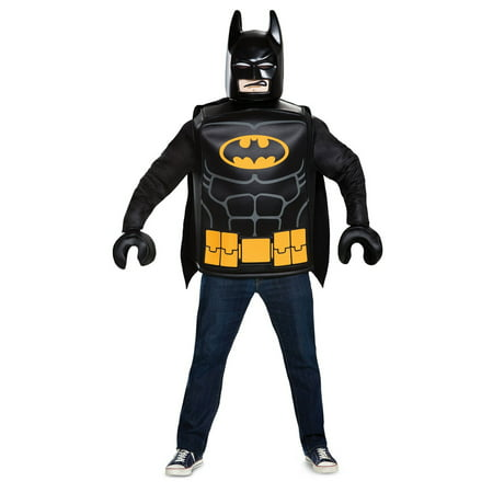 Lego Batman Batman Men's Adult Halloween Costume, One Size, (42-46) - Lego Police Halloween Costume