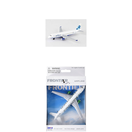 Jetblue  Frontier Airlines Diecast Airplane Package   Two 5 5  Diecast Model Planes