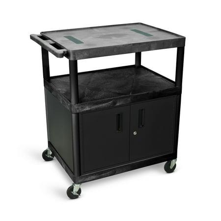 Luxor High Open Shelf Endura Video Table AV Cart with Locking