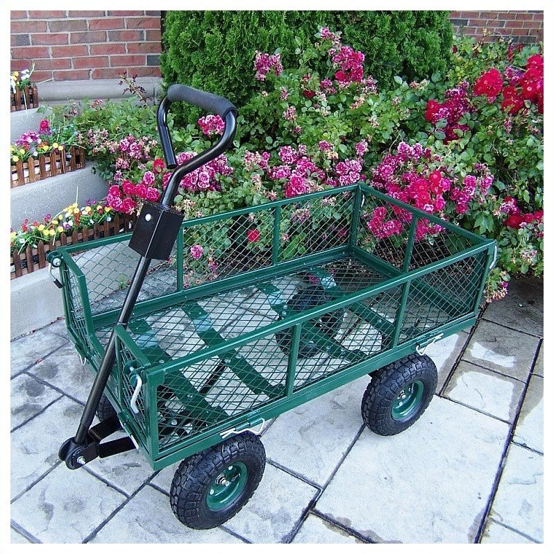 Merveilleux Oakland Living Utility Metal Garden Cart With 500 Lb Capacity In Green