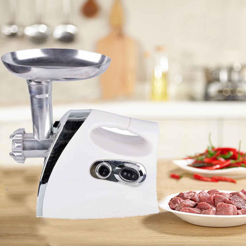 Ktaxon New 1300W Electric Meat Grinder Set Kitchen Slicer / Shredder Sausage Stuffer Maker W/ 3 Grinding Plates White