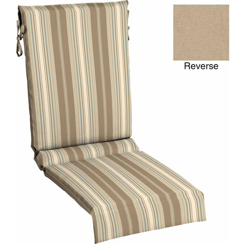 Mainstays Outdoor Sling Chair Cushion, Tan Stripe