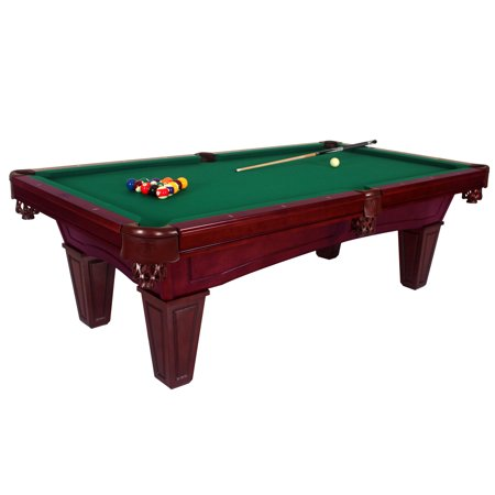 Harvil toscana black cherry slate pool table 8 foot with green felt includes on site delivery - Pool table green felt ...
