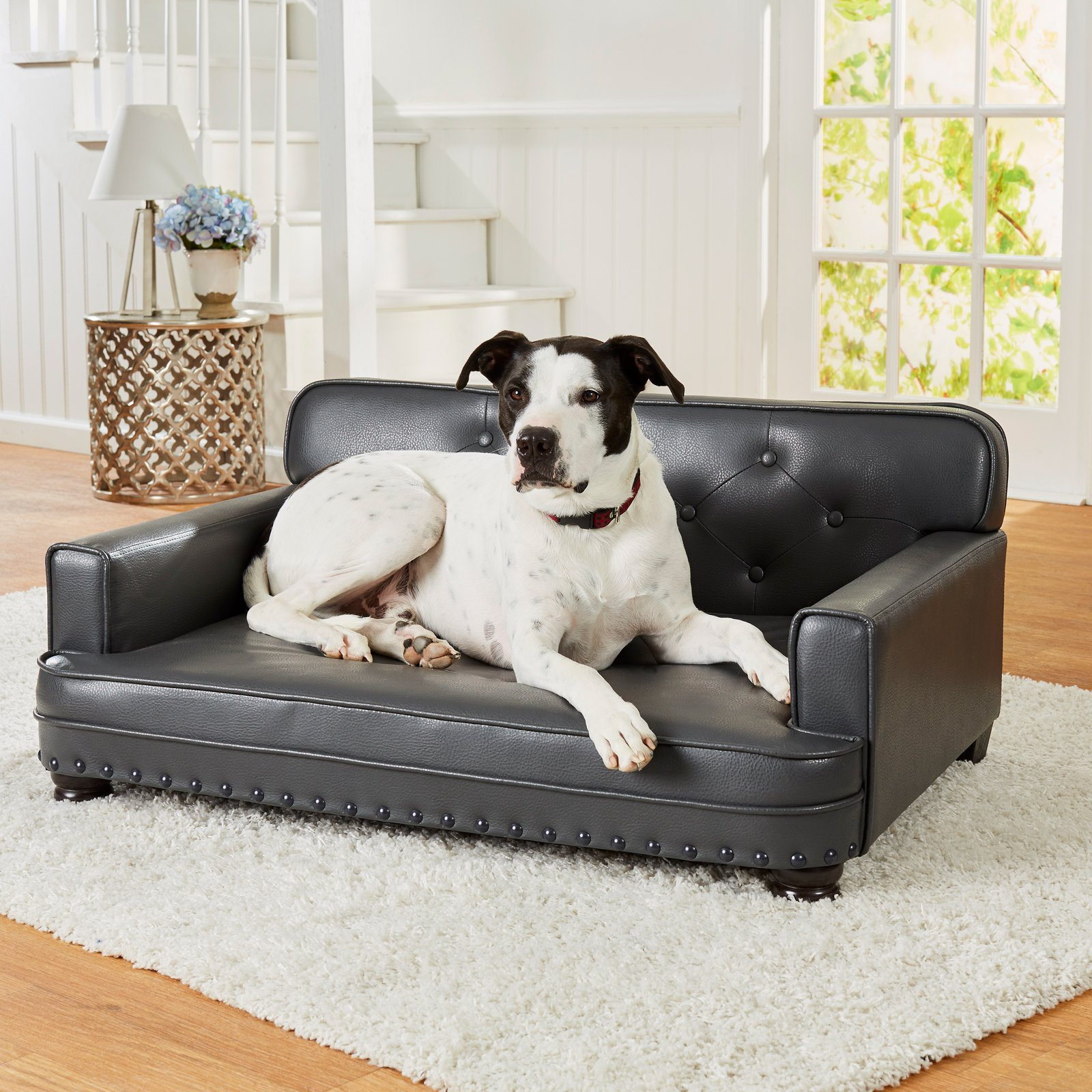 "Enchanted Home Pet Library Sofa Dog Bed, Large, 30""x40""x18"", Gray"