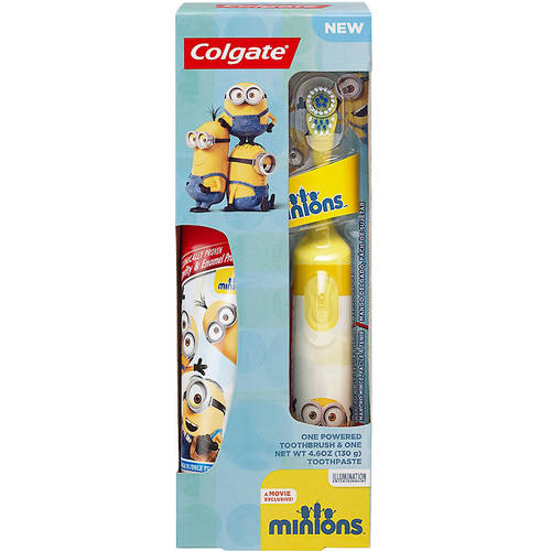 Colgate Kids Battery Powered Toothbrush, Toothpaste Pack - Minions