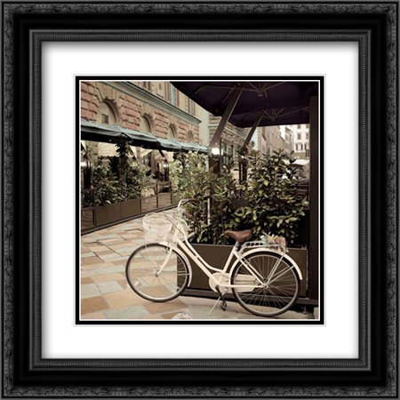 Firenze Bicycle 2x Matted 20x20 Black Ornate Framed Art Print by Blaustein, Alan ()