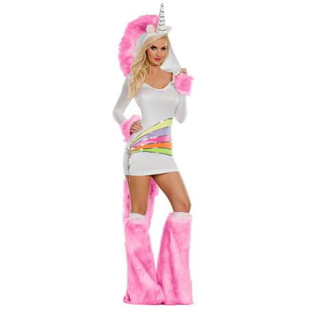 Women's Rainbow Unicorn - Women's Unicorn Costume