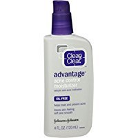 Clean & Clear Advantage Acne Control Face Moisturizer with Salicylic Acid Acne Medication, Non-Greasy Oil-Free Facial Lotion for Acne-Prone Skin, 4 fl. oz - image 1 of 1