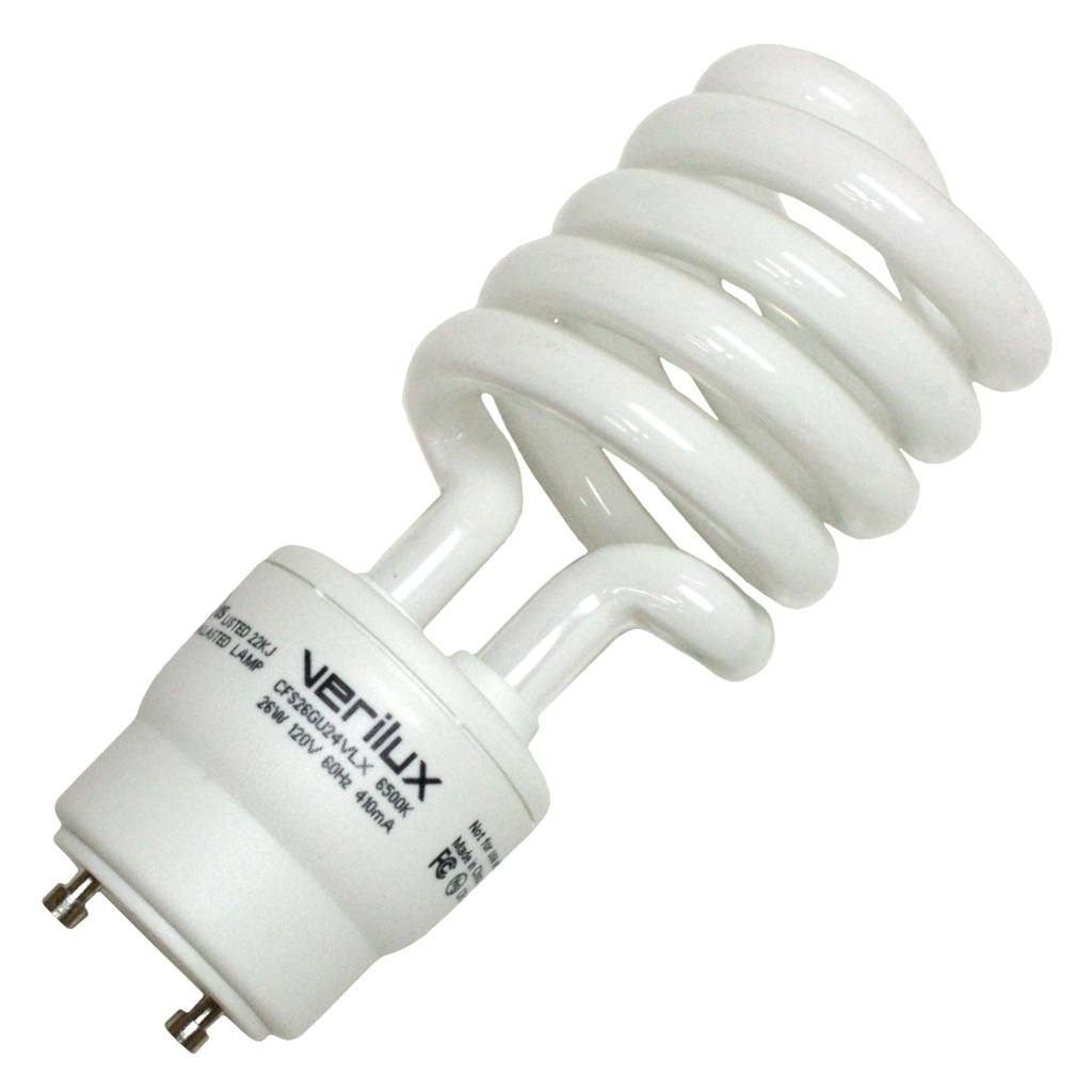 Verilux 36915 CFS26GU24VLX Compact Fluorescent Daylight Full Spectrum Light Bulb by Satco/Nuvo