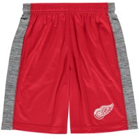 Detroit Red Wings Fanatics Branded Youth Rival Shorts - Red/Heathered Gray