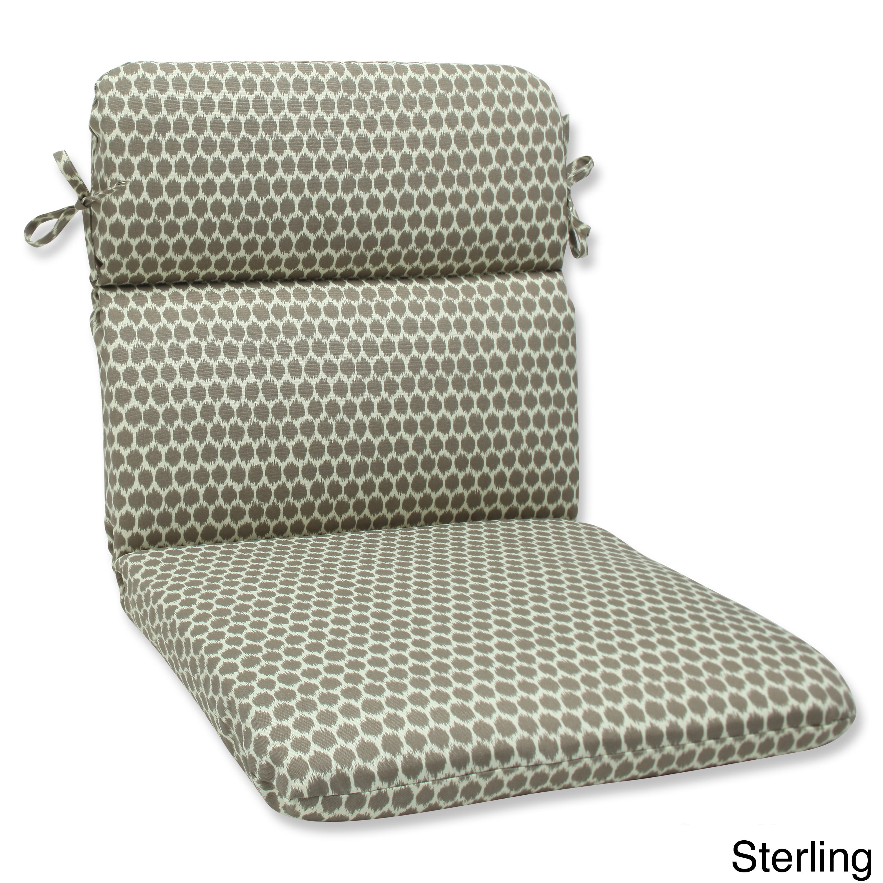 Pillow Perfect  Seeing Spots Rounded Corners Outdoor Chair Cushion