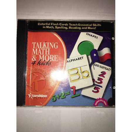 TALKING MATH & MORE 4 KIDS CD PC ROM STARSHINE SOFTWARE RARE VINTAGE (Talking Software)