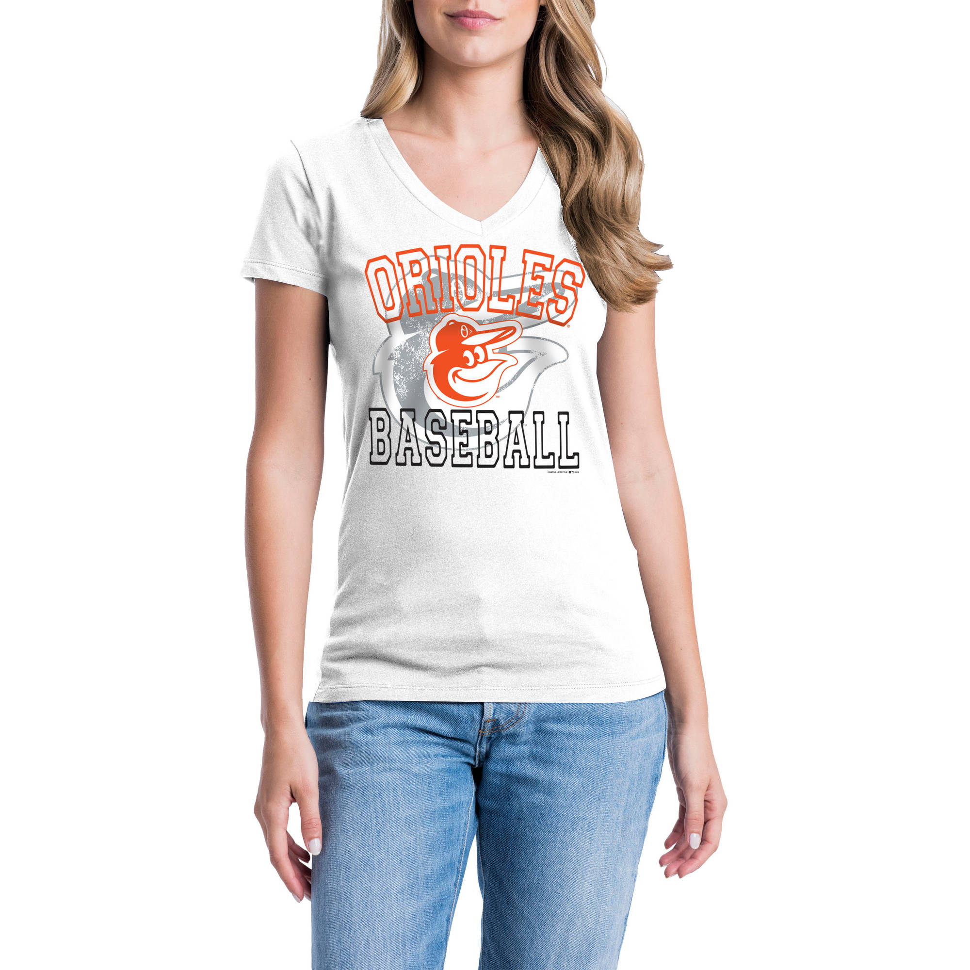 Baltimore Orioles Womens Short Sleeve Graphic Tee