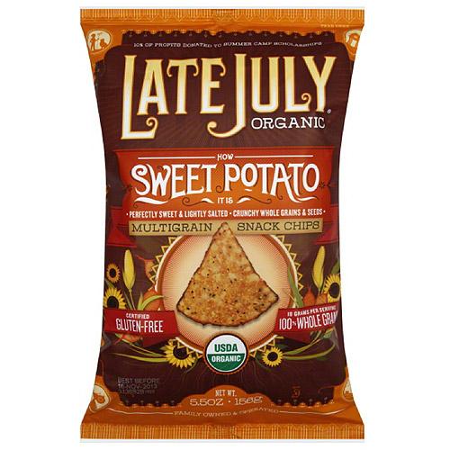 Late July Organic Sweet Potato Multigrain Snack Chips, 5.5 oz, (Pack of 12)