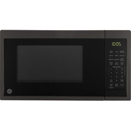 GE Appliances JES1095BMTS GE 0.9 Cu. Ft. Capacity Countertop Microwave Oven, Black Stainless Steel