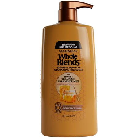 Garnier Whole Blends Repairing Shampoo Honey Treasures, For Damaged Hair, 28 fl.