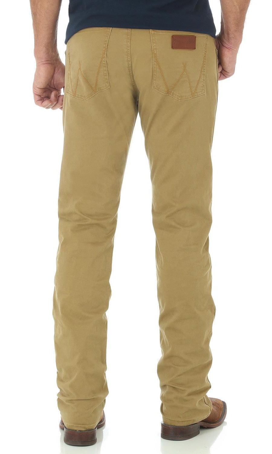 Wrangler - Wrangler Men's Retro Slim Fit Straight Leg Khaki Jeans