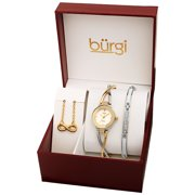 Burgi Womens Two Tone Alloy Diamond Watch [BUR213TTG-S]