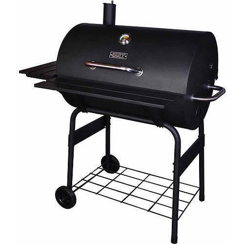 "Backyard Grill 30"" Barrel Charcoal Grill, Black"