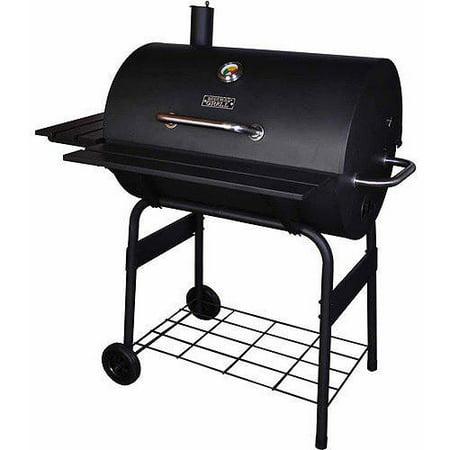 "Backyard Grill 30"" Barrel Charcoal Grill, Black - Walmart.com"