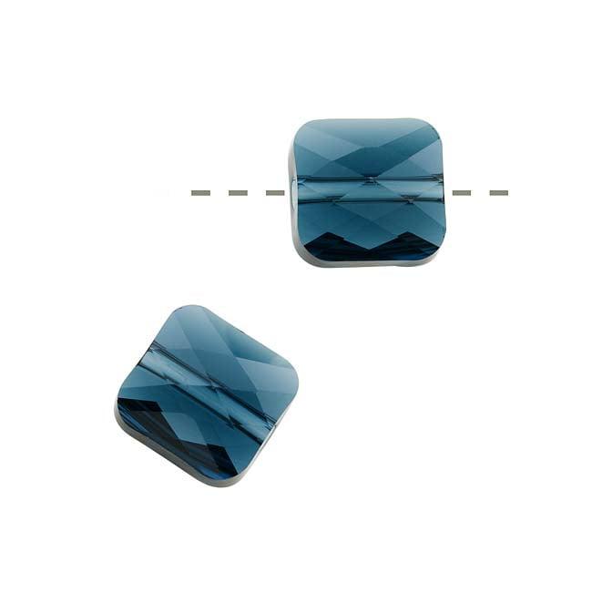 Swarovski Crystal, #5053 Square Mini Beads 8mm, 2 Pieces, Montana