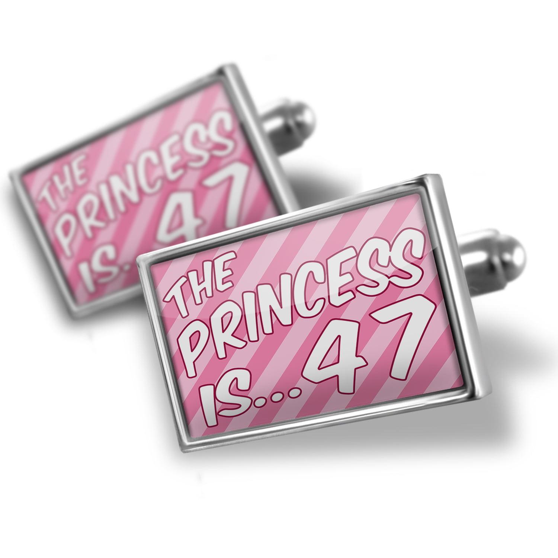 Cufflinks Princess is 47, Birthday in pink - NEONBLOND