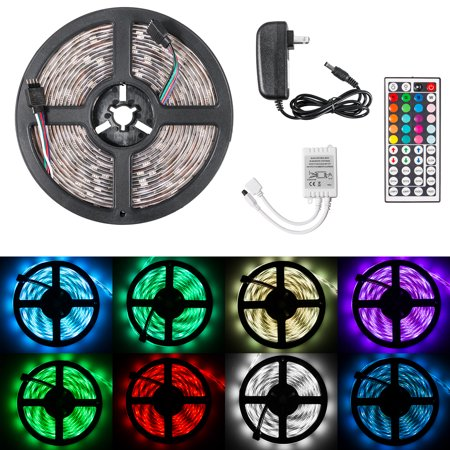 TSV LED Strip Light Waterproof 16.4ft RGB SMD 5050 LED Rope Lighting Color Changing Full Kit with 44-keys IR Remote Controller & Power Supply LED Lighting Strips for Home Kitchen Indoor Decoration](Led Light Supplies)