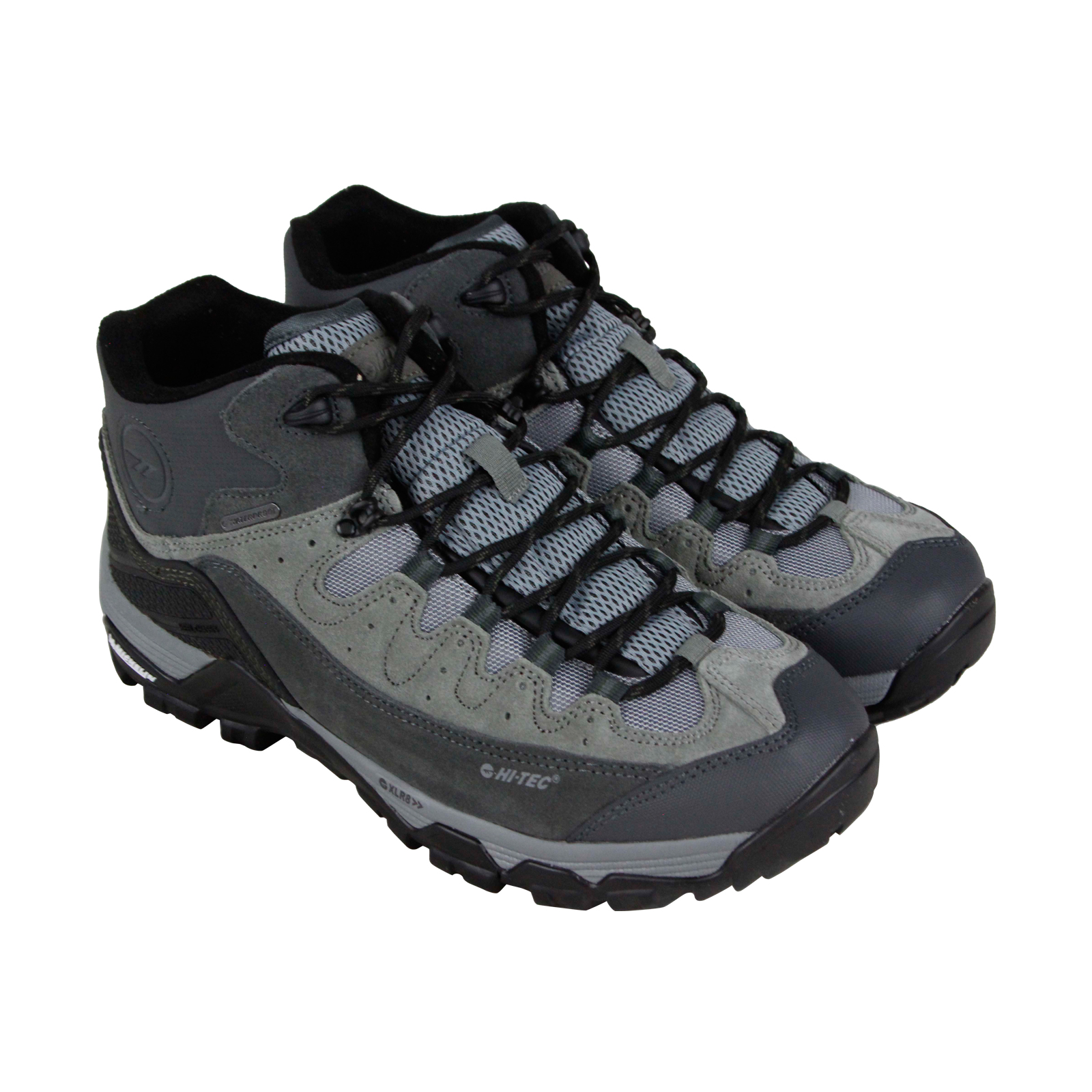 Hi-Tec Ox Belmont Mid I Wp Mens Gray Suede Hiking Lace Up Boots Shoes