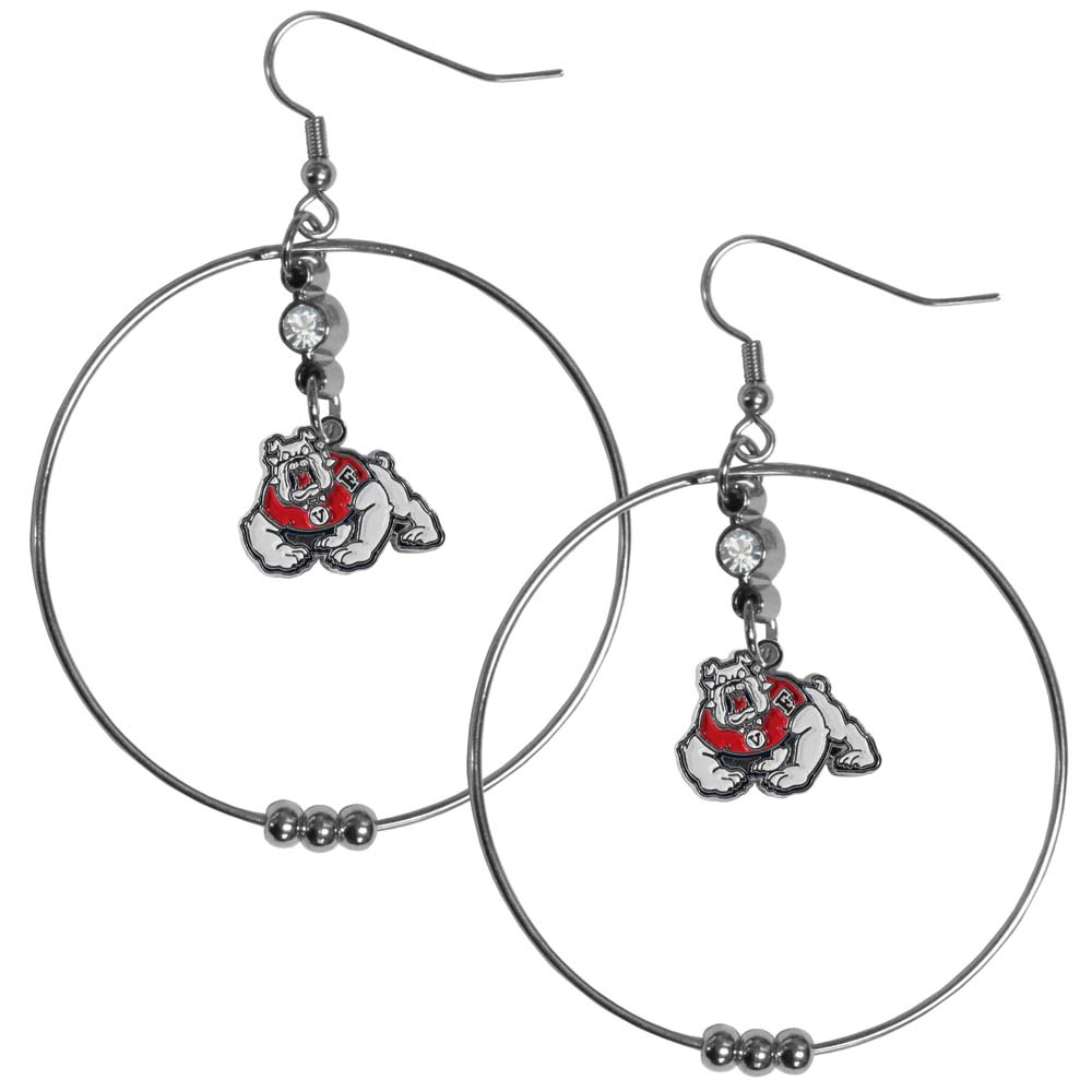 Fresno State 2 Inch Hoop Earrings (F)