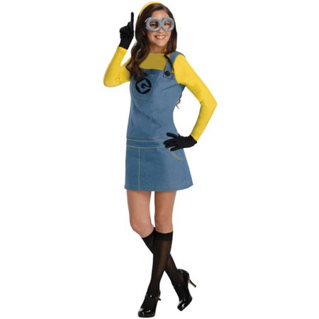 Morris Costumes RU887200MD Despicable Me Lady Minion Adult Costume, Medium (Ladies Minion Costume)