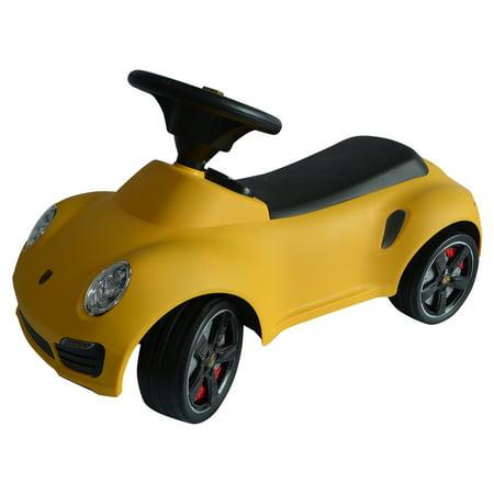 costway licensed porsche 911 kids ride on push car toddler baby walker toy yellow new