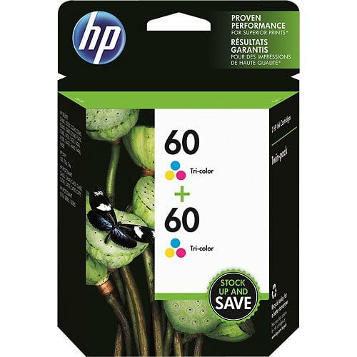 HP 60, (CZ072FN) 2-pack Tri-color Original Ink Cartridges by HP