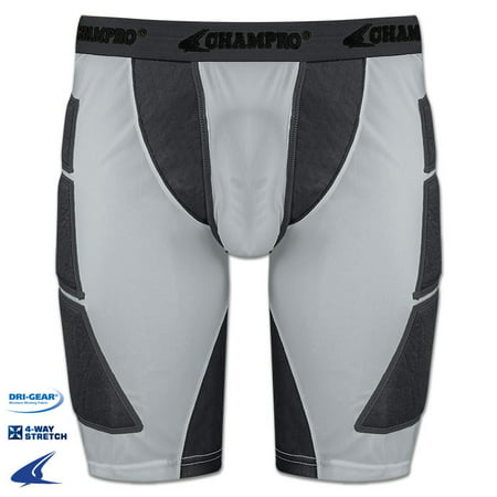 Champro Adult On Deck Sliding Short - Grey - 2X-Large