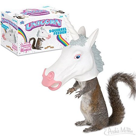 Unicorn Head Squirrel Feeder, Model: , Home & Outdoor Store ()