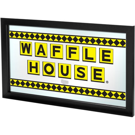 Waffle House Checkered Framed Logo Mirror